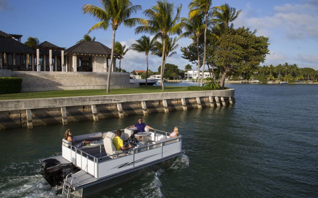 Pontoon & Deck Boat: Florida pontoon builder debuts with two models at Miami show
